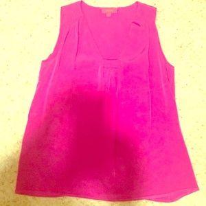 🔥HUGE SALE! 💜Lavia 18 Purple Silk Sleeveless Top